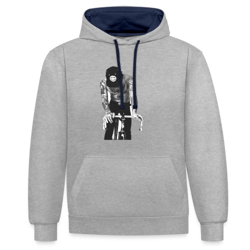 Be bold - Contrast Colour Hoodie