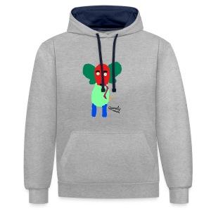 Annelie - Contrast hoodie