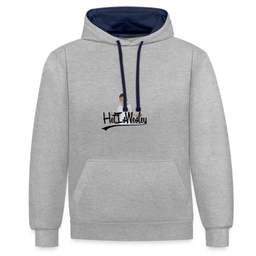 HetIsWesley T-Shirt - Contrast hoodie