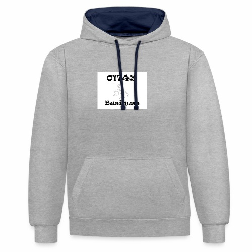 01743 Business - Contrast Colour Hoodie