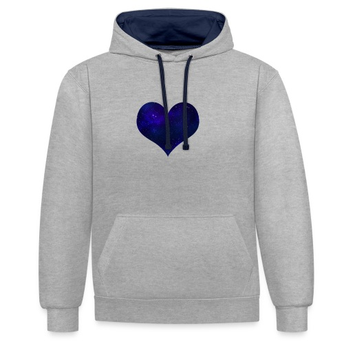 Love from outer space - Contrast Colour Hoodie