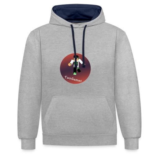 Hoodie met TwoGames logo - Contrast hoodie
