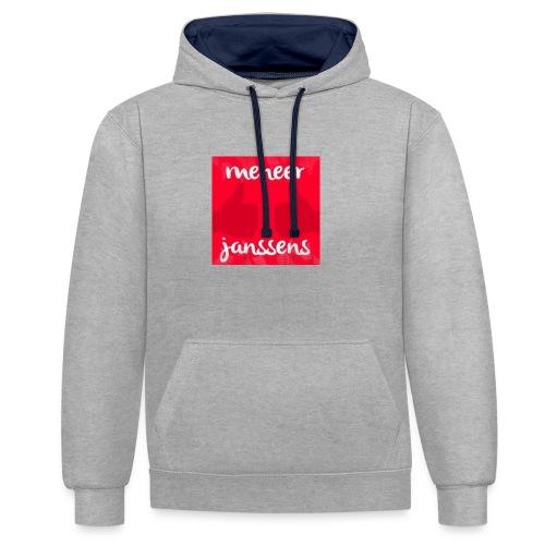 Sweater Meneer Janssens - Contrast hoodie