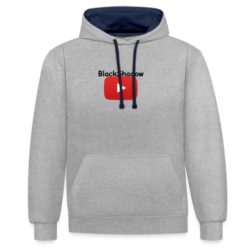 BlackShadow-Youtube - Kontrast-Hoodie