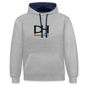 DH Health&Fitness Large logo - Contrast Colour Hoodie