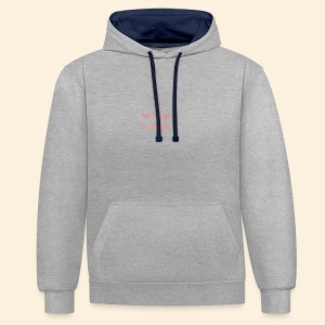 No squatting, no peach coral - Contrast Colour Hoodie