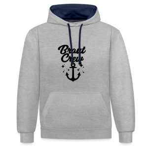 Braut Crew - JGA T-Shirt - JGA Shirt - Braut - Kontrast-Hoodie