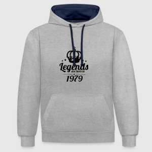 Legends 1979 - Contrast Colour Hoodie