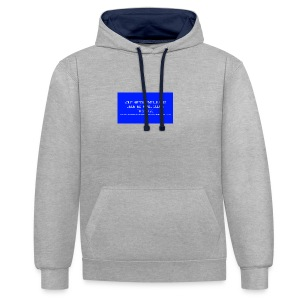 Hard Drive Deleted Notice - Contrast Colour Hoodie