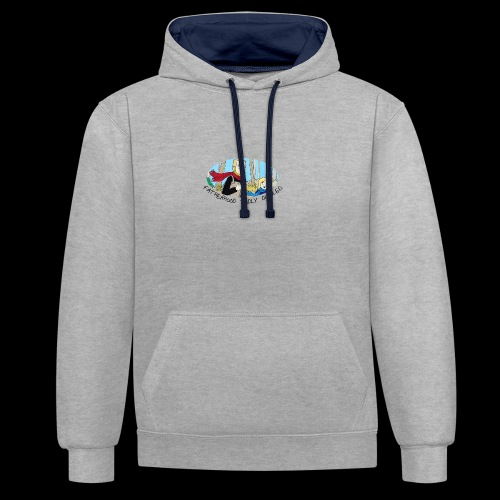 Fatherhood Badly Doodled - Contrast Colour Hoodie