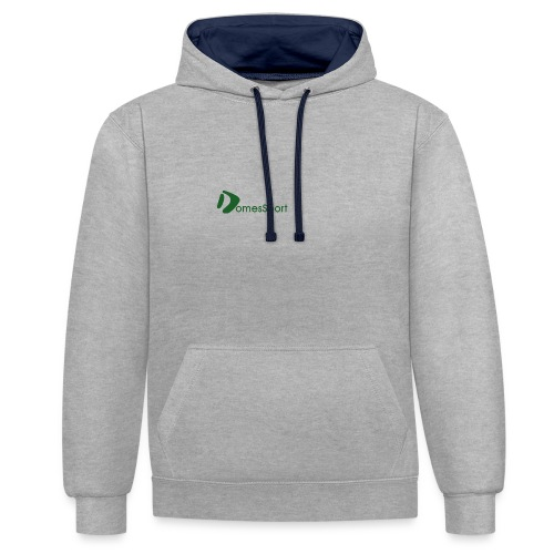 Logo DomesSport Green noBg - Kontrast-Hoodie