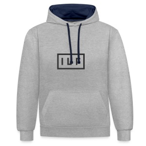ILR LOGO GRY - Contrast Colour Hoodie