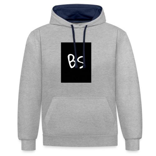 BS - Kontrast-Hoodie