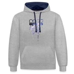 Men's shirt Lightning - Contrast Colour Hoodie