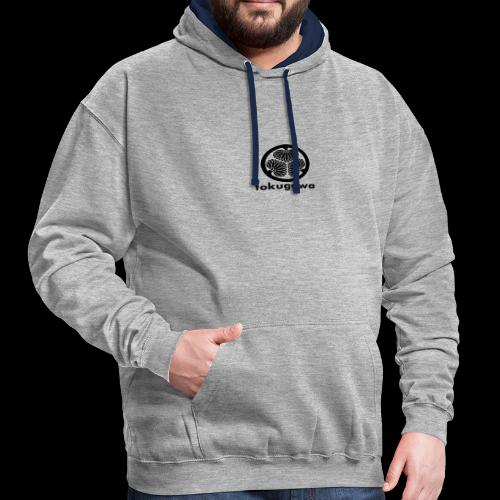 tokugawa mon with title - Contrast Colour Hoodie