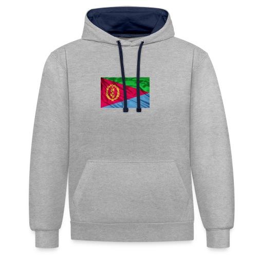 Eritrea Flag - Kontrast-Hoodie