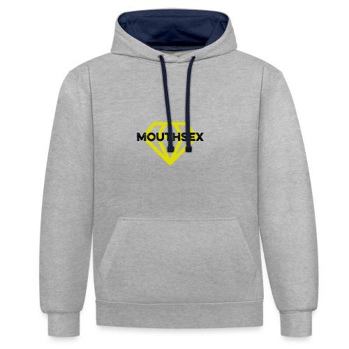 Mouthsex Diamond Black Font - Kontrast-Hoodie