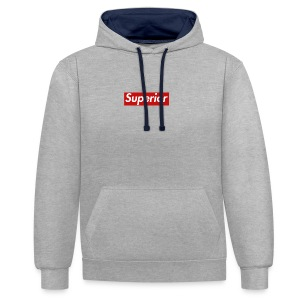 Superior Classic Box Logo Design - Contrast Colour Hoodie