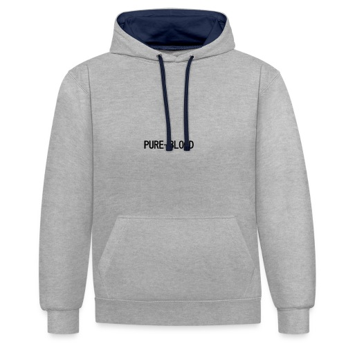 pure - Contrast Colour Hoodie