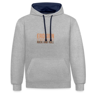 When Nature Rock And Roll - Contrast Colour Hoodie