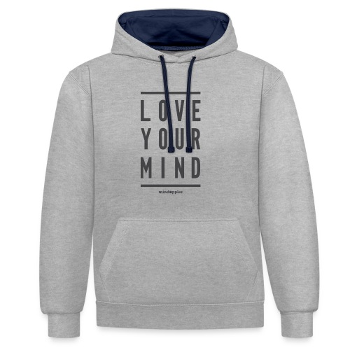 Mindapples Love your mind merchandise - Contrast Colour Hoodie
