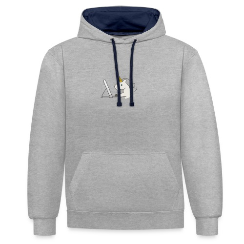 Unicorn Work - Contrast Colour Hoodie
