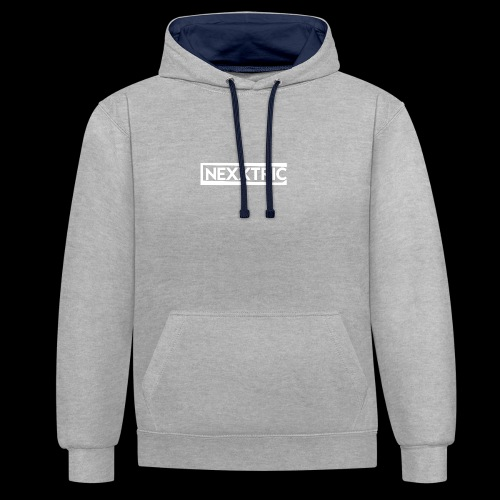 logo blanc NEXXTRIC - Sweat-shirt contraste