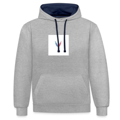 American bird. - Contrast Colour Hoodie