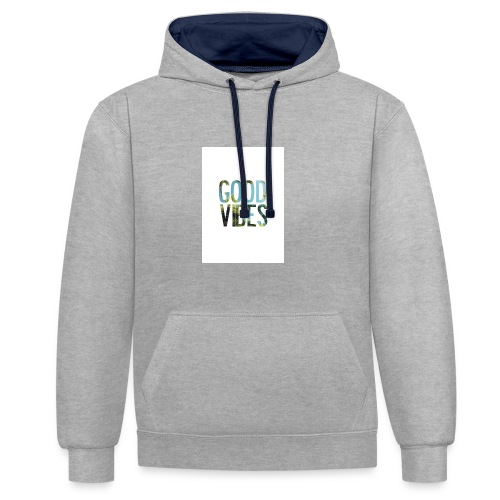 Good Vibes - Contrast Colour Hoodie