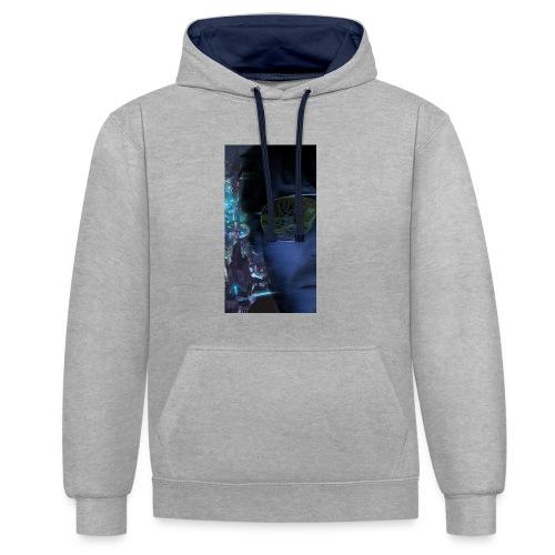 Cyberpunk - Fly verkligheten med en T-shirt - Kontrastluvtröja