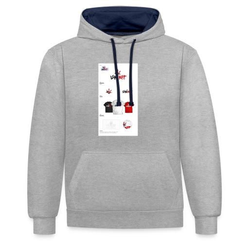 unikat_1 - Bluza z kapturem z kontrastowymi elementami