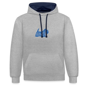 Founded in Scotland logo - Contrast Colour Hoodie