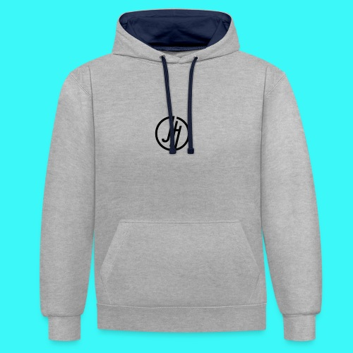 JH Logo - Contrast Colour Hoodie