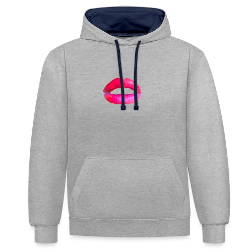 Perfect lips - Contrast Colour Hoodie