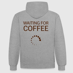 Wainting for Coffee - Sweat-shirt contraste