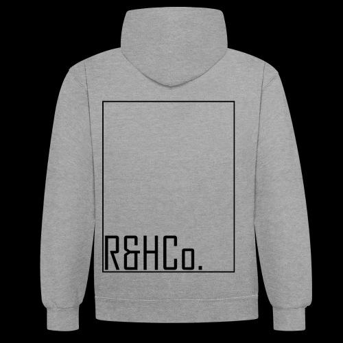 R&HCo design black - Contrast Colour Hoodie