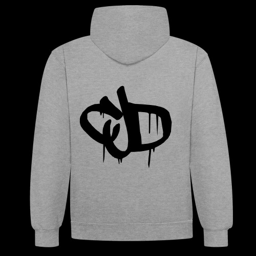 Dripping blood CJD logo - Contrast Colour Hoodie