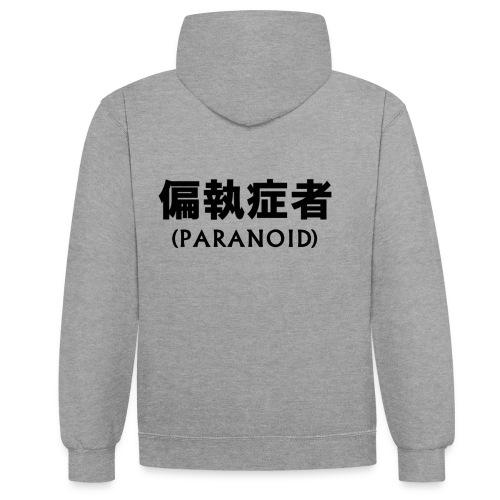 Paranoid - Kontrast-Hoodie