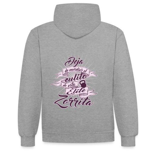 Culito Elite Zorrita - Sudadera con capucha en contraste