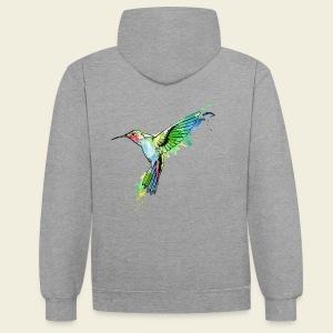 Kolibri Design - Kontrast-Hoodie