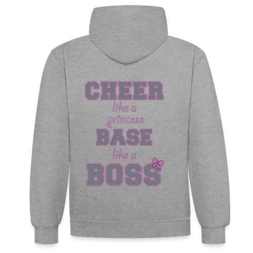 base like a boss - Kontrast-Hoodie