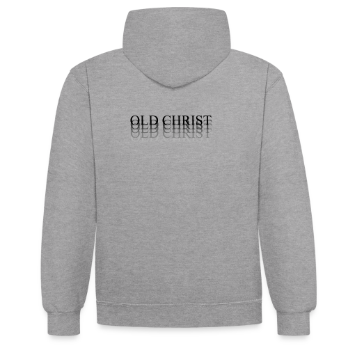 OLD CHRIST FADE LOGO - Contrast Colour Hoodie