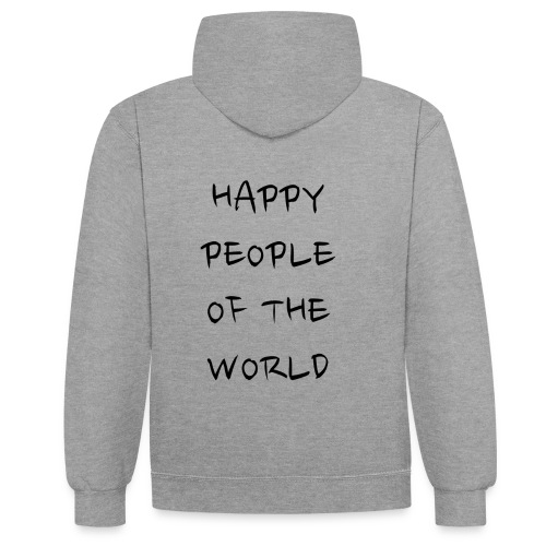 Happy People Of The World - Contrast hoodie