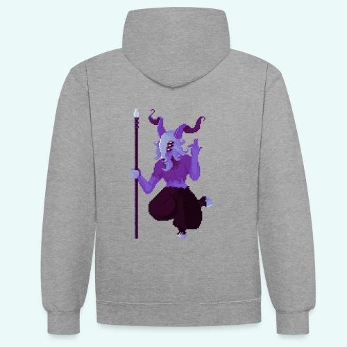 666 - Sweat-shirt contraste