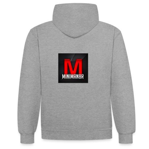 miniman8R Logo - Contrast Colour Hoodie