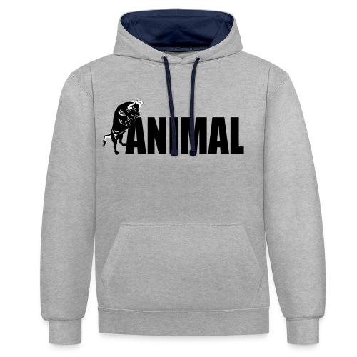 animal palestra - Felpa con cappuccio bicromatica