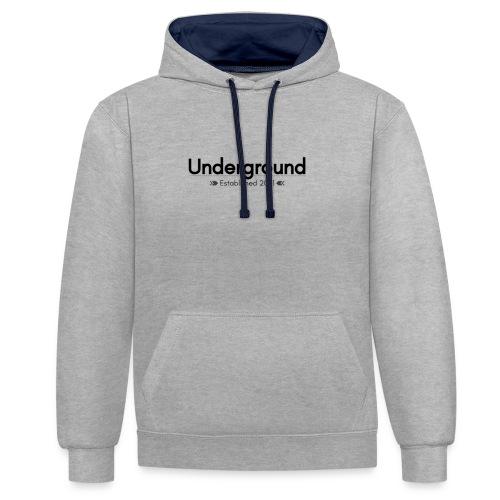 Underground - Kontrast-Hoodie