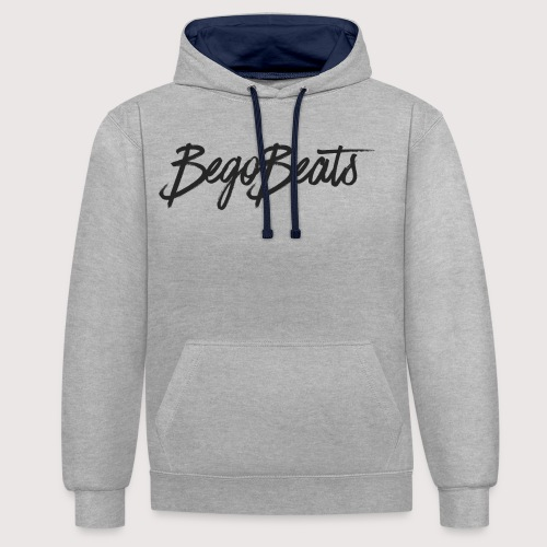 BegoBeats White Collection - Contrast Colour Hoodie