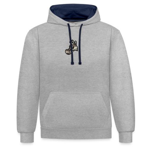 KrusherLogo - Bluza z kapturem z kontrastowymi elementami