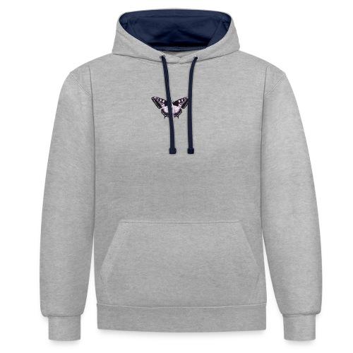 butterfly effect - Contrast hoodie